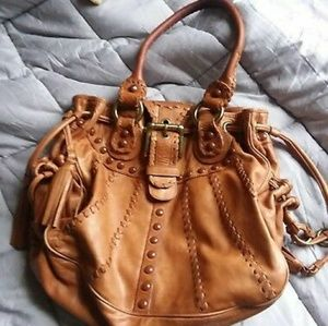Isabella Fiore Hobo Leather Bag